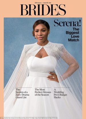 Serena Williams Covers Brides Magazine February/March 2018.
