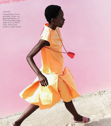 Editorials. Herieth Paul.  ELLE Germany February 2018.  Images by  Enrique Badulescu.