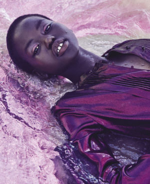 Editorials. Adut Akech.  Vogue Australia March 2018.  Images by Nicole Bentley.