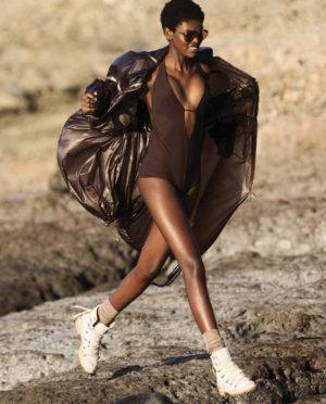Editorials. Amilna Estevão. ELLE March 2018. Images by Hans Feurer.