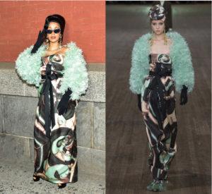 Cardi B Wears Marc Jacobs Spring 2018.