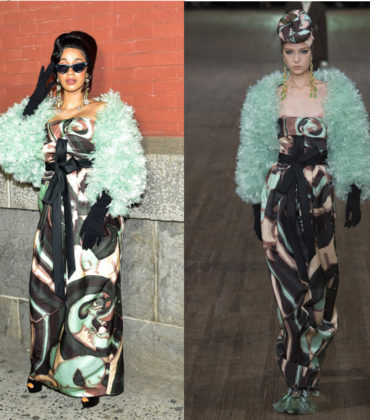 Cardi B Wears Marc Jacobs Spring 2018.