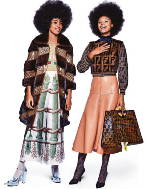 Editorials.  Aamito Lagum. Afrodita Dorado Dominguez. and More.  Vogue Japan.  Images by Walter Chin.