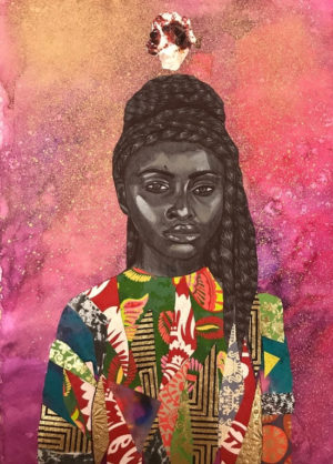 Art. Mixed Media Portraits by Jamea Richmond-Edwards.
