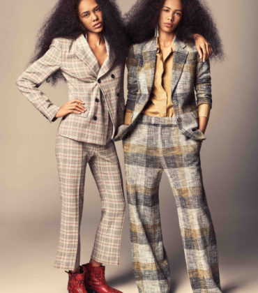 Editorials.  Martine & Gunnhild Chioko Johansen. ELLE Norway April 2018.  Images by Isabel Watson.