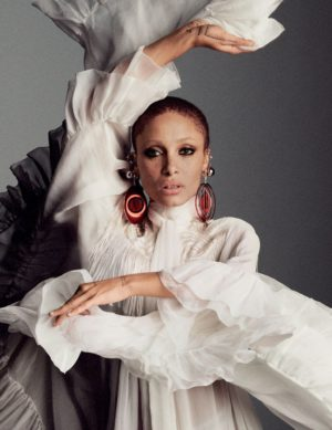 Editorials. Adwoa Aboah. Vogue Arabia April 2018.  Images by Cass Bird.