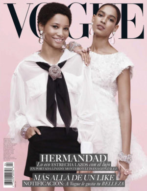 Editorials. Lineisy Montero and Luisana Gonzalez. Vogue Mexico April 2018.  Images by Paola Kudacki.