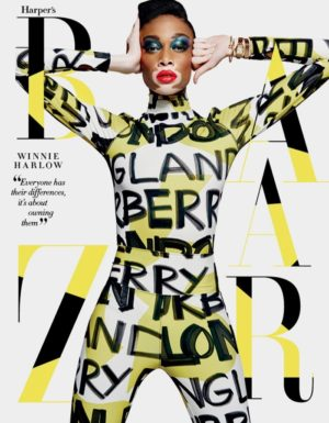 Editorials. Winnie Harlow Covers Harper's Bazaar Singapore May 2018.  Images by Yu Tsai.