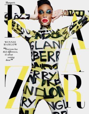 Editorials. Winnie Harlow Covers Harper's Bazaar Singapore May 2018.  Images by Yu Tsai.