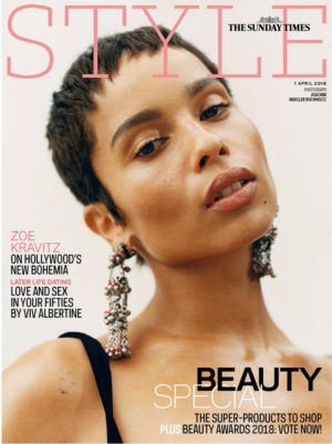 Editorials. Zoë Kravitz Covers The Sunday Times Style Magazine. Images by Joachim Mueller-Ruchholtz.