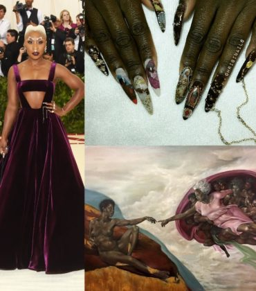 Cynthia Erivo's Met Gala Manicure Featured an All-Black Sistine Chapel Scene.