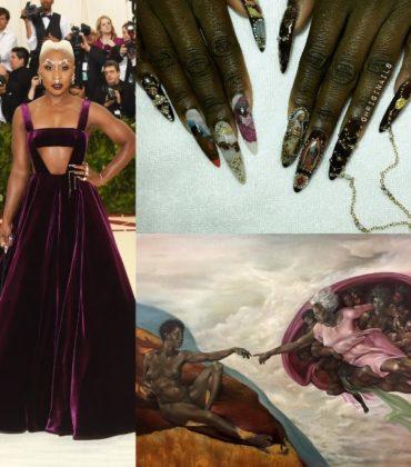Cynthia Erivo's Met Gala Manicure Featured an All-Black Sistine Chapel Scene.