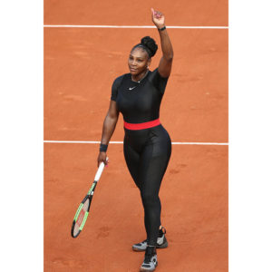 Serena Williams Wears a Custom Catsuit for French Open Win.