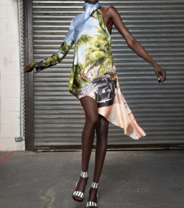 Collections. Alek Wek for Monse Resort 2019.