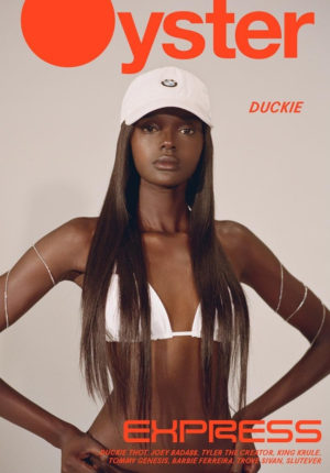 Duckie Thot Covers OYSTER Magazine #114.  Image by Gadir Rajab.