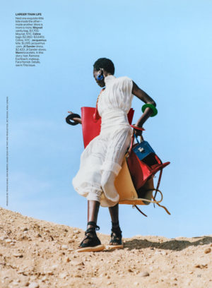 Editorials. Adut Akech. Vogue August 2018. Images by David Luraschi.