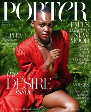Lupita Nyong'o Covers Porter Magazine's Fall 2018 Issue.  Images by Mario Sorrenti.