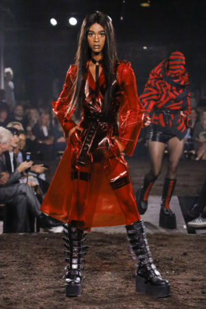 On the Runway. Gareth Pugh Spring 2019.