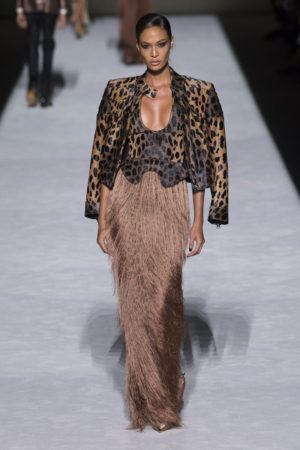 On the Runway.  Tom Ford Spring 2019.