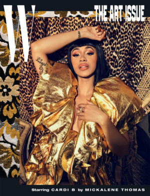 Cardi B Covers W Magazine.  Images by Mickalene Thomas.