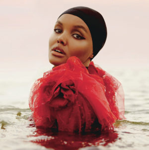 Editorials.  Halima Aden Covers ELLE UK November 2018.  Images by Clay S Gardner.