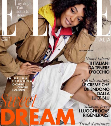 Editorials. Jourdan Dunn.  ELLE Italy November 2018.  Images by Victor Demarchelier.