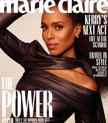 Kerry Washington Covers Marie Claire November 2018.  Images by Thomas Whiteside.