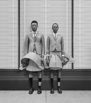 Ajak Deng and Youssouf Bamba for Thom Browne Fall 2018 Campaign.