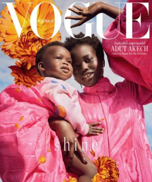 Editorials. Adut Akech.  Vogue Australia December 2018.  Images by Charles Dennington.