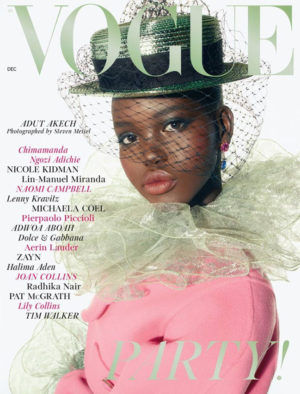 Adut Akech Covers British Vogue December 2018.  Images by Steven Meisel.