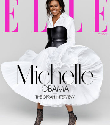 Michelle Obama Covers ELLE Magazine December 2018.  Images by Miller Mobley.