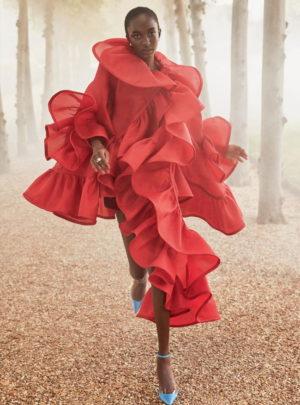 Editorials. Nicole Atieno.  Harper's Bazaar UK December 2018.  Images by Richard Phibbs.