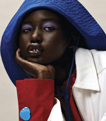 Editorials. Adut Akech.  Vogue January 2019.  Images by Josh Olins.