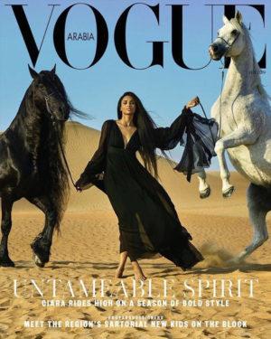 Editorials. Ciara Covers Vogue Arabia February 2019.  Images by Mariano Vivanco.