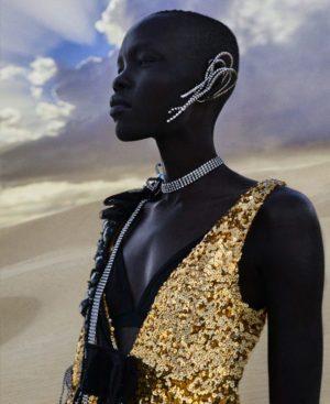 Grace Bol.  Harper's Bazaar March 2019.  Images by Txema Yeste.