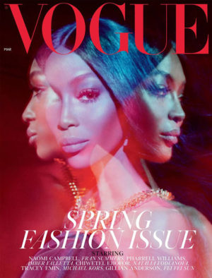 Naomi Campbell Covers British Vogue March 2019.  Images by Steven Meisel.