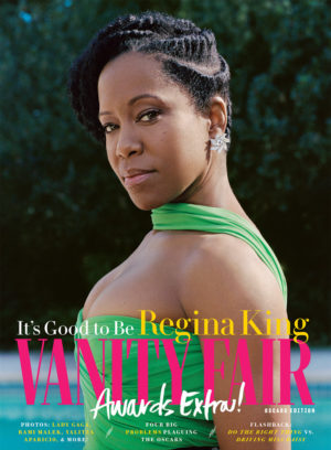 Regina King for Vanity Fair Oscar Edition 2019.  Images by Sharif Hamza.