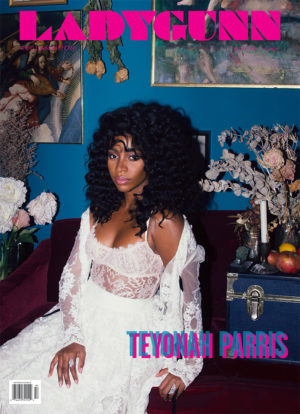 Teyonah Parris Covers LADYGUNN Magazine.  Images by Rachel Thalia Fisher.