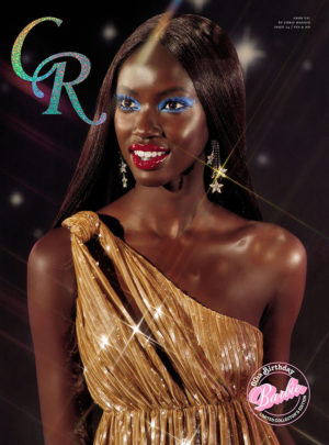 Anok Yai Covers CR Fashion Book.  Images by Chris Maggio.