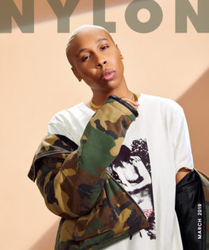 Lena Waithe Covers NYLON March 2019.  Images by Gizelle Hernandez.
