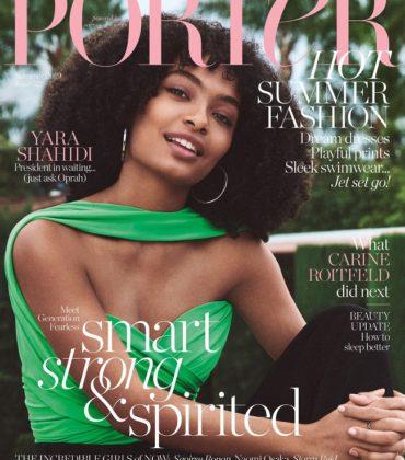 Yara Shahidi Covers Porter Magazine #32 Summer 2019.  Images by Cass Bird.